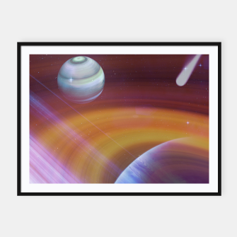 Thumbnail image of Outer space Framed poster, Live Heroes