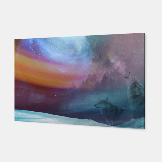 Thumbnail image of Howling at the moon Canvas, Live Heroes