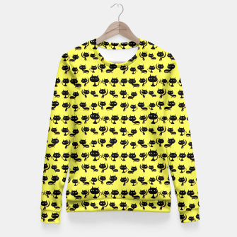 Thumbnail image of Cats Pattern Fitted Waist Sweater, Live Heroes