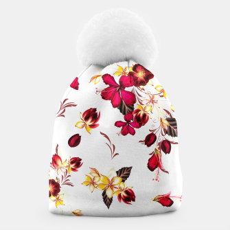 Miniatur Luxury beanie with Art flowers, Live Heroes
