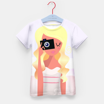 Thumbnail image of Designers tshirt with Photographer girl, Live Heroes