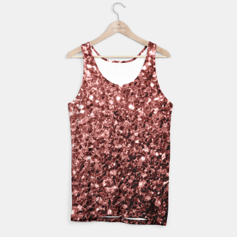 Miniaturka Beautiful Glam Marsala Brown Red Glitter sparkles Tank Top, Live Heroes