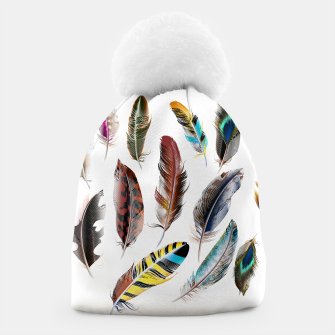 Miniatur Designers beanie : BOHO STYLE with Feathers, Live Heroes