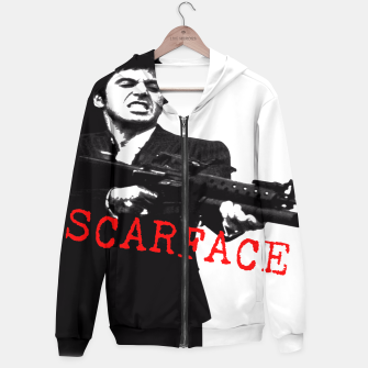 Thumbnail image of New Fashion Black Shirt For Mens Scarface Guns Apparels Gift T-shirt Zip up hoodie, Live Heroes