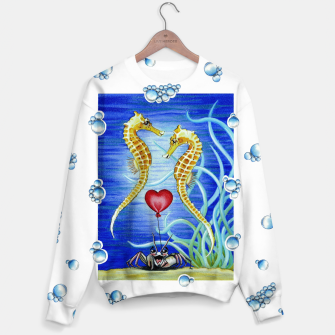 Thumbnail image of Two Seahorses in Love Sweater, Live Heroes