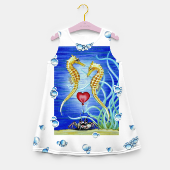 Thumbnail image of Two Seahorses in Love Girl's Summer Dress, Live Heroes