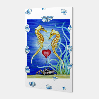 Thumbnail image of Two Seahorses in Love Canvas, Live Heroes