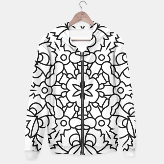 Thumbnail image of Hoodie for woman : Black and white mandala, Live Heroes