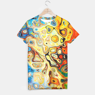 Miniatur Colourful Melting Shapes T-shirt, Live Heroes