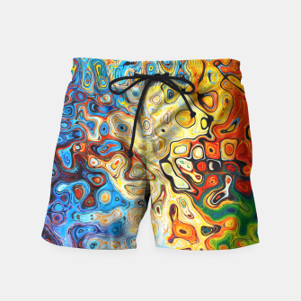 Miniatur Colourful Melting Shapes Swim Shorts, Live Heroes