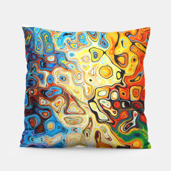 Colourful Melting Shapes Pillow imagen en miniatura