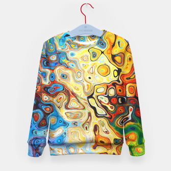 Colourful Melting Shapes Kid's Sweater imagen en miniatura