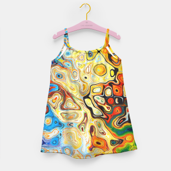 Colourful Melting Shapes Girl's Dress imagen en miniatura