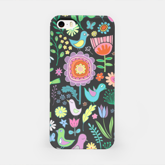 Miniaturka Birds & Blooms - Pastels on Charcoal iPhone Case, Live Heroes