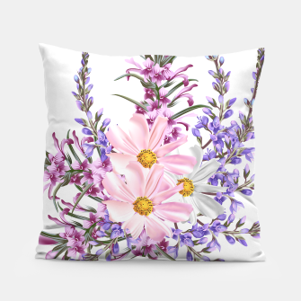 Miniaturka Bedroom artistic Pillow with Pink flowers, Live Heroes