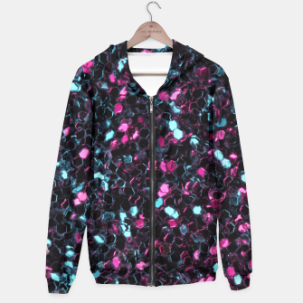 Miniaturka Sparkly colorful pink and blue mosaic Hoodie, Live Heroes