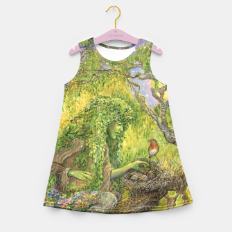 Miniaturka Forest Protector Girl's Summer Dress, Live Heroes