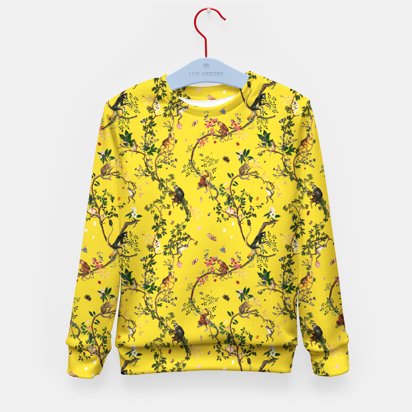Image of Monkey World yellow Kids Sweater - Live Heroes