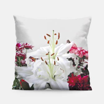 Thumbnail image of Pretty Lilies Pillow, Live Heroes