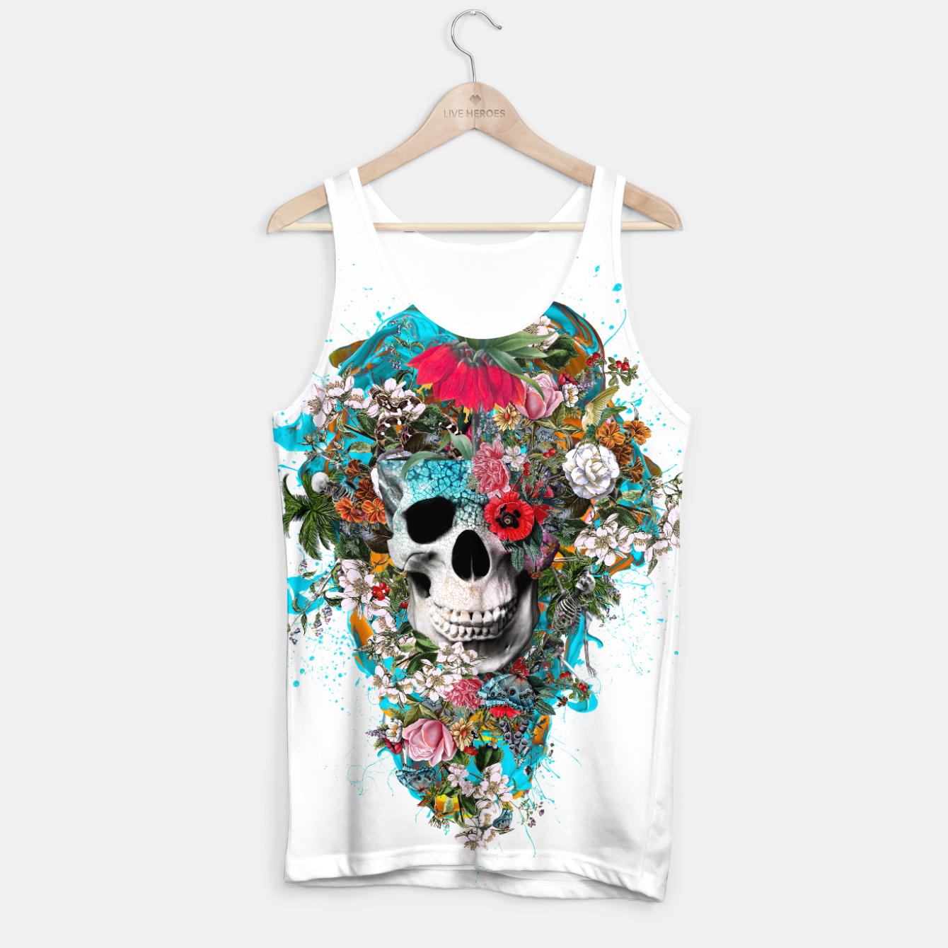 Image of SUMMER SKULL V Tank Top - Live Heroes