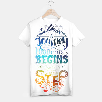 Thumbnail image of A Journey of 1000 Miles T-shirt, Live Heroes