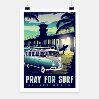 Thumbnail image of Pray for surf poster, Live Heroes