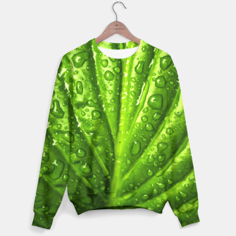 Miniatur Green Wet Leaf Sweater, Live Heroes