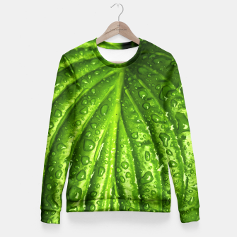 Miniatur Green Wet Leaf Fitted Waist Sweater, Live Heroes