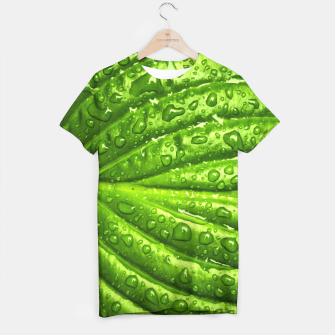 Miniatur Green Wet Leaf T-shirt, Live Heroes