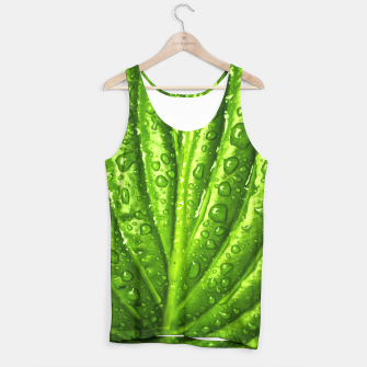 Miniatur Green Wet Leaf Tank Top, Live Heroes