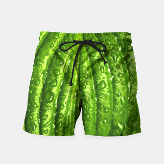 Miniatur Green Wet Leaf Swim Shorts, Live Heroes