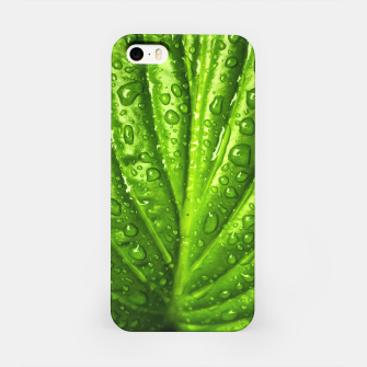 Miniatur Green Wet Leaf iPhone Case, Live Heroes