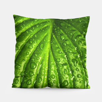 Miniatur Green Wet Leaf Pillow, Live Heroes