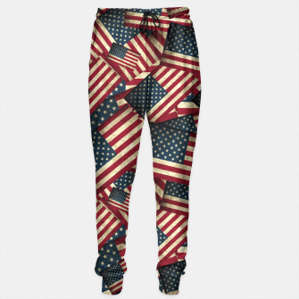 Patriotic Grunge-Style USA American Flags Sweatpants thumbnail image