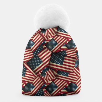 Patriotic Grunge-Style USA American Flags Beanie thumbnail image