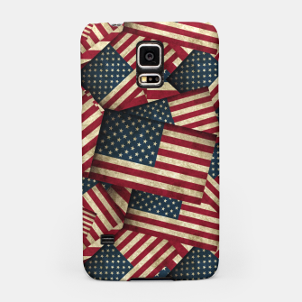 Patriotic Grunge-Style USA American Flags Samsung Case thumbnail image