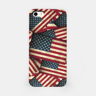 Patriotic Grunge-Style USA American Flags iPhone Case thumbnail image