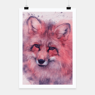 Red Fox Plakat obraz miniatury