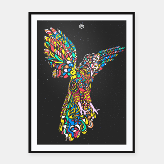 Thumbnail image of Gallito de las Rocas #Peruvian #Bird #Colorful #version Framed poster, Live Heroes