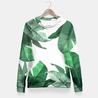 Thumbnail image of Banana Leaf Fitted Waist Sweater, Live Heroes