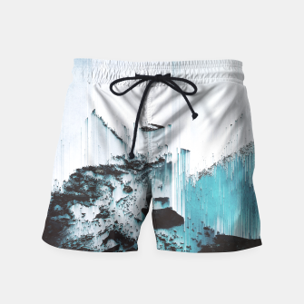 Thumbnail image of Glitched Swim Shorts, Live Heroes