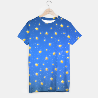 Thumbnail image of Cute Blue Starry Sky T-shirt, Live Heroes