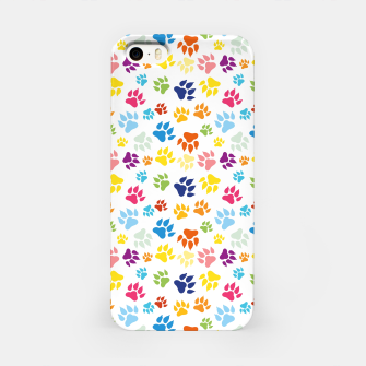Thumbnail image of Colorful Dog Paws iPhone-Hülle, Live Heroes