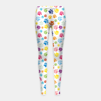 Thumbnail image of Colorful Dog Paws Kinder-Leggins, Live Heroes