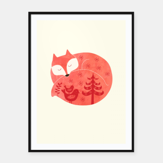 Thumbnail image of Sleeping Fox Framed poster, Live Heroes