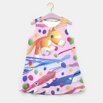 Miniaturka Kite Parade Girl's Summer Dress, Live Heroes