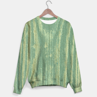 Thumbnail image of Rustic green weathered wood Sweater, Live Heroes