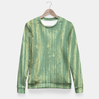 Thumbnail image of Rustic green weathered wood Fitted Waist Sweater, Live Heroes