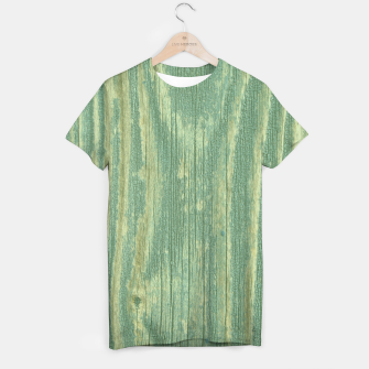 Thumbnail image of Rustic green weathered wood T-shirt, Live Heroes