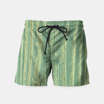 Thumbnail image of Rustic green weathered wood Swim Shorts, Live Heroes